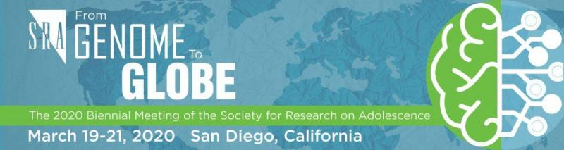 SRA 2020 Biennial Meeting logo - From Genome to Globe held on March 19-20, 2020 in San Diego, California, USA