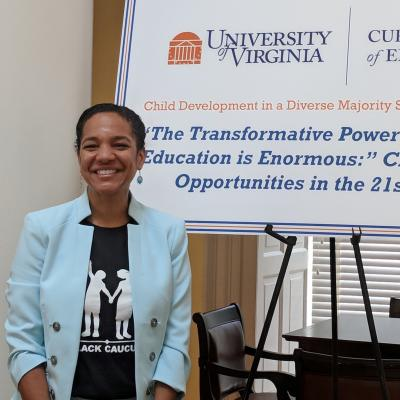 Joanna Lee Williams, Ph.D. at the Diverse Majority Lecture in UVA, July 2018