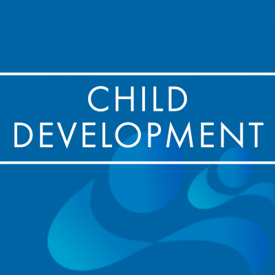 Child Development Journal logo on a blue background.