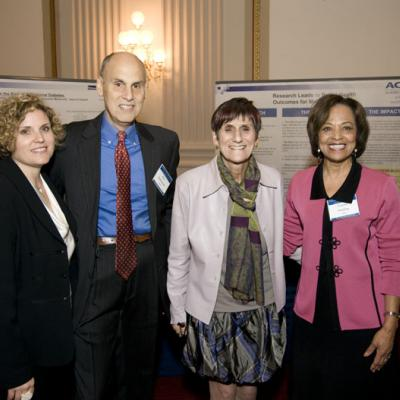 Congresswoman Rosa DeLauro with Alan Guttmacher, Yvonne Maddox, and Karen Studwell