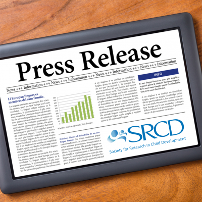Tablet reading an SRCD Press Release