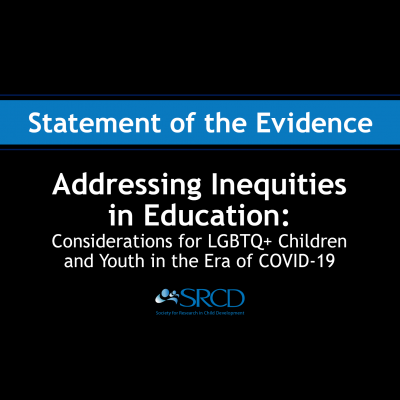 Addressing Inequities in Education: Considerations for LGBTQ+ Children and Youth in the Era of COVID-19 logo