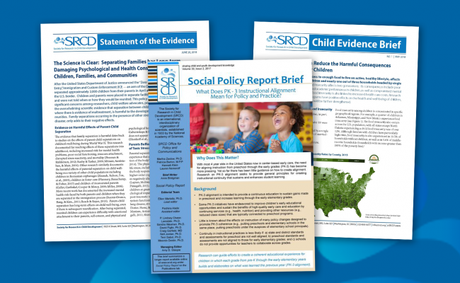 SRCD Briefs and Fact Sheets